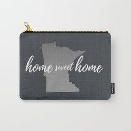 Minnesota Home Sweet Home Grey Carry-All Pouch