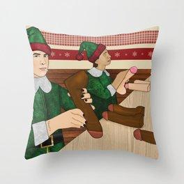 The Naughty List Throw Pillow