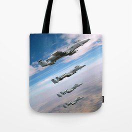 BEAUTIFUL AIRPLANE FORMATION Tote Bag