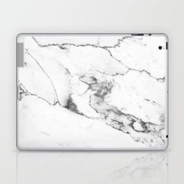 White Marble I Laptop & iPad Skin