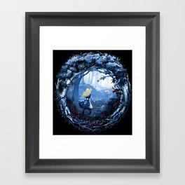 Follow the Rabbit Framed Art Print