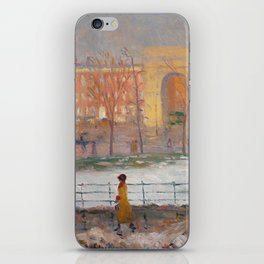 Street Cleaners, Washington Square by William Glackens, 1910 iPhone Skin