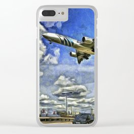 Airliner Vincent Van Gogh Clear iPhone Case