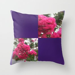 Crape Myrtle Blank Q9F0 Throw Pillow