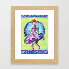 Lady Bazooka Framed Art Print