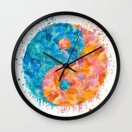 yin and Yang Symbol Watercolor painting Wall Clock