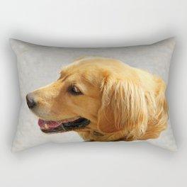 Happy Golden Retriever Rectangular Pillow