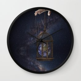 Surrealism Fantasy Earth Wall Clock