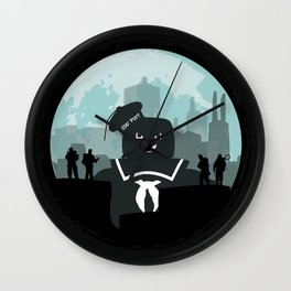 Ghostbusters versus the Stay Puft Marshmallow Man Wall Clock