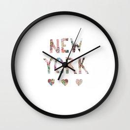 New York love Wall Clock