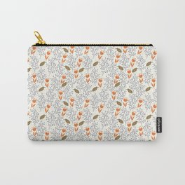 Orange Flowers Carry-All Pouch