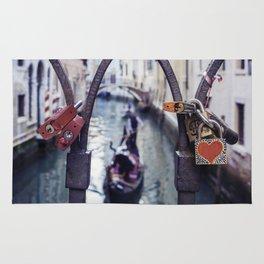 Romantic Venice Love Locks Rug