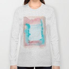 180815 Watercolor Rothko Inspired 9| Colorful Abstract | Modern Watercolor Art Long Sleeve T-shirt
