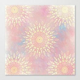 Star Bursts Mandala Canvas Print