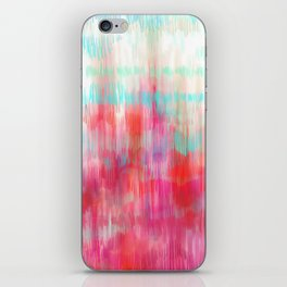 Color Song - abstract in pink, coral, mint, aqua iPhone Skin
