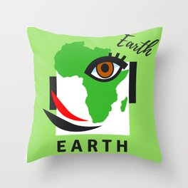""""""" Carry On, E A R T H """" Throw Pillow"""