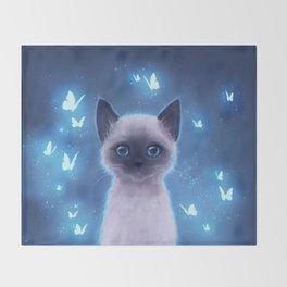 Siamese kitten Throw Blanket