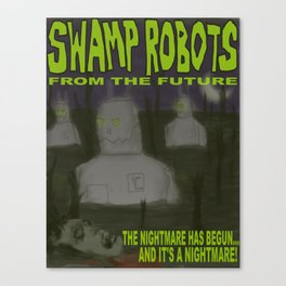 SWAMP ROBOTS Canvas Print