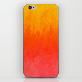 Coral, Guava Pink Abstract Gradient iPhone Skin