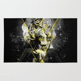 Cosmic Tiger B&W Rug