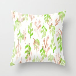 180726 Abstract Leaves Botanical 26 Throw Pillow