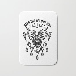 Keep the wild in you Bath Mat