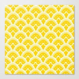 Fan Pattern Yellow 201 Canvas Print