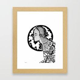 Human Pattern Framed Art Print