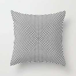 Concentric Dots Throw Pillow