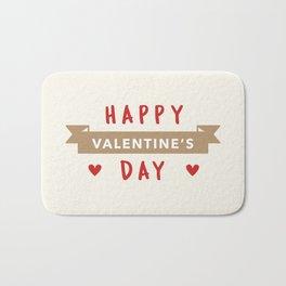 Happy Valentine's Day Bath Mat