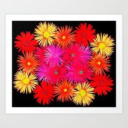Bouquet on display Art Print