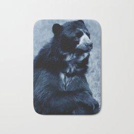 Black bear contemplating life Bath Mat