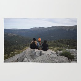 Friends on the mountain Rug
