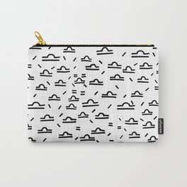 Libra Symbol Pattern Simple Black and White Drawn Carry-All Pouch