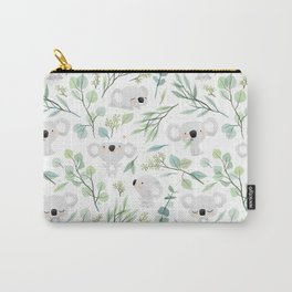 Koala and Eucalyptus Pattern Carry-All Pouch