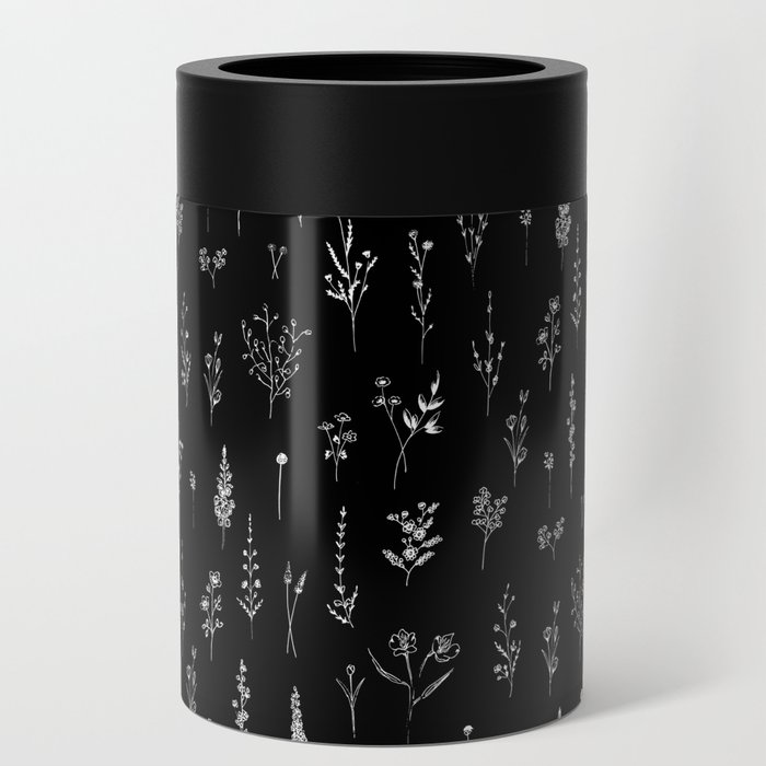 Black wildflowers Can Cooler