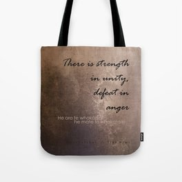 Strength in Unity - Defeat in Anger - Maori Wisdom - metalic Tote Bag