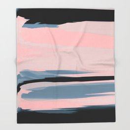 Soft Determination Peach Throw Blanket