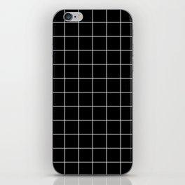 Grid Simple Line Black Minimalistic iPhone Skin