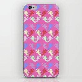 colorful cherubs pink iPhone Skin