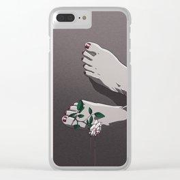 Sensitivity Broken Clear iPhone Case