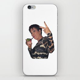 Peace Out Kris Jenner iPhone Skin