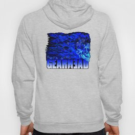 Gear Head:Flaming Blue Skull Hoody