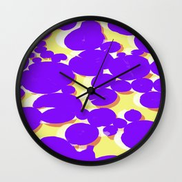 Lotus Pond Ultra Violet Lemonade Wall Clock
