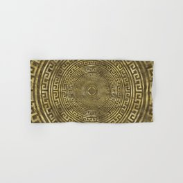 Circular Greek Meander Pattern - Greek Key Ornament Hand & Bath Towel