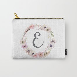 Floral Wreath - E Carry-All Pouch