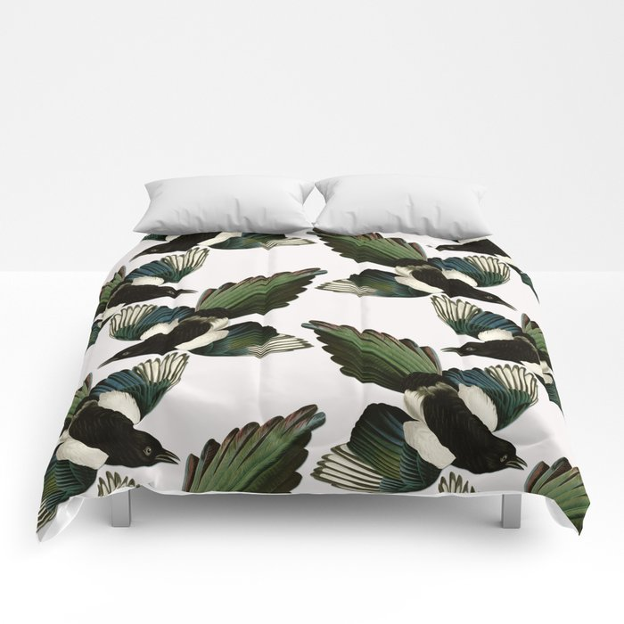 A Tiding Of Magpies Comforters