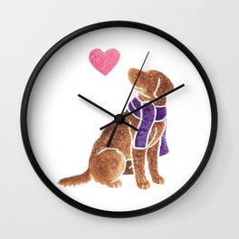 Watercolour Chesapeake Bay Retriever Wall Clock