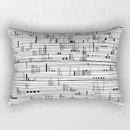 Harbour #2-minimalist, decorative line Drawing Rectangular Pillow