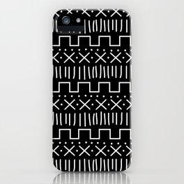 Black Mud Cloth iPhone Case